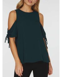 Dorothy Perkins Green Drawcord Top
