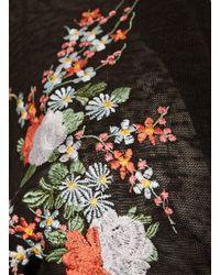 Dorothy Perkins Blue Vanilla Curve Black Embroidered Cardigan