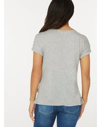 Dorothy Perkins Gray Maternity Grey Pearl Embellished T-shirt