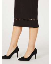 Dorothy Perkins - Wide Fit Black 'electra' Court Shoes - Lyst