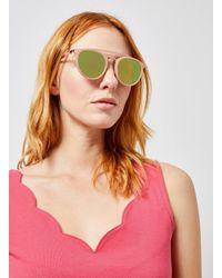 Dorothy Perkins Pink Metal Brow Bar Sunglasses