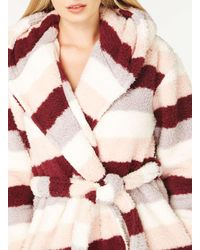 Dorothy Perkins Multicolor Monster Fleece Striped Robe