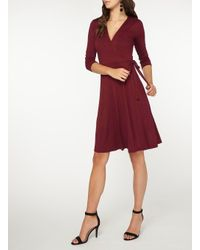 Dorothy Perkins - Red Tall Wine Jersey Wrap Dress - Lyst