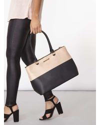 Dorothy Perkins Black Sesame Double Zip Tote Bag
