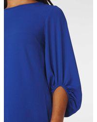 Dorothy Perkins Blue Cobalt Bubble Cuff Top