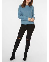 Dorothy Perkins - Noisy May Blue 'edna' Long Sleeve Knitted Top - Lyst