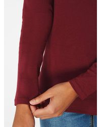 Dorothy Perkins Red Long Sleeve Crew Neck Top