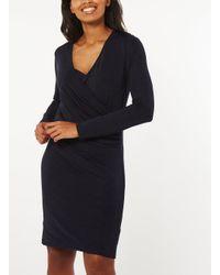 Dorothy Perkins Blue Vero Moda Navy Short Wrap Dress
