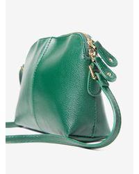 Dorothy Perkins Green Double Zip Cross Body Bag