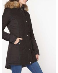 Dorothy Perkins Gray Tall Charcoal Padded Coat