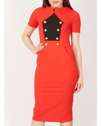 Dorothy Perkins Feverfish Red Pencil Dress