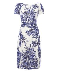 Dorothy Perkins Roman Originals Blue Floral Lace Dress