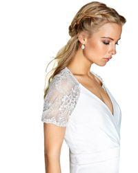 Dorothy Perkins White Little Mistress Bridal V-neck Fishtail Maxi Dress