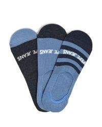 Pepe Jeans Füßlinge 3er Set in Blue für Herren