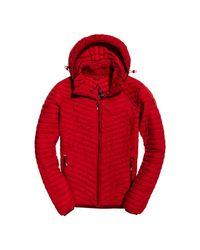 Superdry Red Vintage Fuji Hooded for men