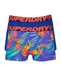 Superdry Blue Boxer Double Pack for men