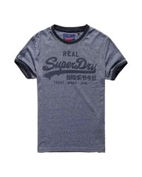 Superdry Gray Vintage Logo Ringer for men