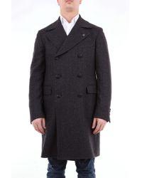 Coupe-manteau à double boutonnage avec micro-design Tagliatore pour homme en coloris Black