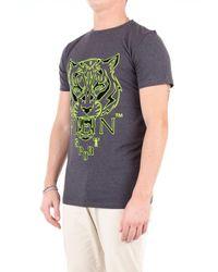 T-shirt manica corta di Philipp Plein in Gray da Uomo