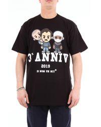 Camiseta negra de manga corta Ih Nom Uh Nit de hombre de color Black