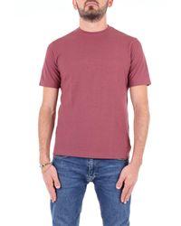 T-shirt manica corta di Zanone in Pink da Uomo
