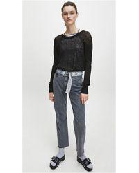 J20j214133 maglione con logo in maglia a rete di Calvin Klein in Black