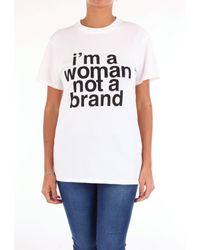 Camiseta blanca Erika Cavallini Semi Couture de color White