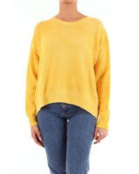 Jersey con cuello redondo y manga larga Altea de color Yellow