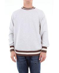 Jersey de algodón con bordes en contraste Brunello Cucinelli de hombre de color Multicolor