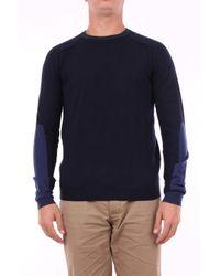 Pull à col rond en laine Heritage pour homme en coloris Blue