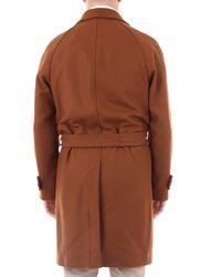 Manteau Paltò pour homme en coloris Brown