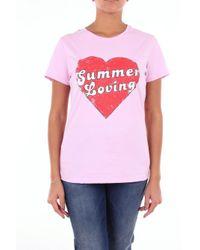 T-shirt manche courte Pinko en coloris Pink
