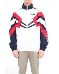 Giacca sportiva track jacket mvb con zip frontale di Diadora in Pink da Uomo