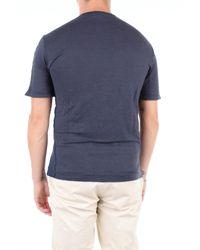 T-shirt manica corta di Transit in Blue da Uomo