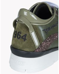 DSquared² Green 551 Leather Low-Top Sneakers