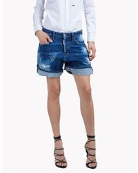 DSquared² | Blue Kawaii Distressed Denim Shorts | Lyst