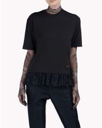DSquared² | Black Lace T-shirt | Lyst