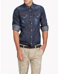 DSquared² | Blue Western Shirt for Men | Lyst
