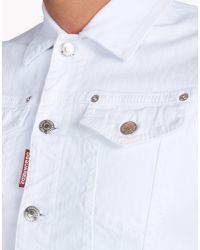 DSquared² - White Jean Vest for Men - Lyst