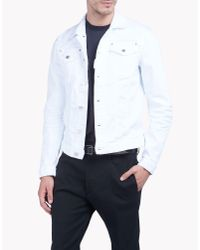 DSquared²   White Classic Jean Jacket for Men   Lyst