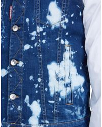 DSquared² - Blue Bleached Denim Vest for Men - Lyst