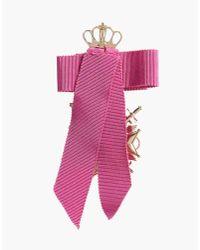 DSquared² - Metallic Ribbon Cross Embellished Earrings - Lyst