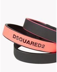 DSquared² Pink Fluo Japan Armlet for men