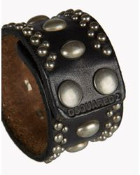 DSquared² Black Mix Studs Armlet for men