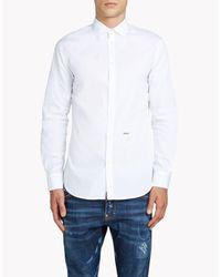 DSquared² White Mini Spread Collar Shirt for men