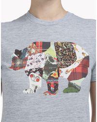 DSquared² - Gray Short Sleeve T-shirt - Lyst