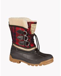 DSquared² - Red Plaid Snow Boots for Men - Lyst