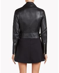 DSquared² - Black Leather Biker Jacket - Lyst