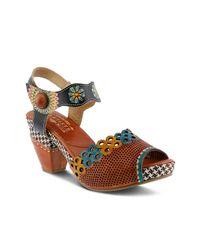 Spring Step Brown Jive Platform Sandal
