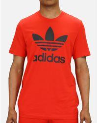 Adidas Red Originals Trefoil Tee for men